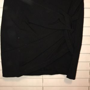 Black Twist Skirt